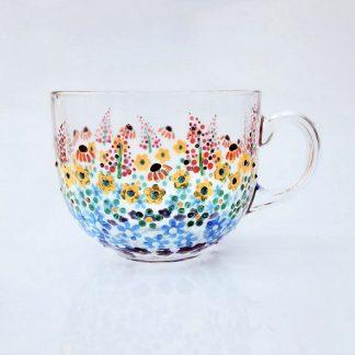 Rainbow Flowers Jumbo Mug